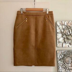 IVANKA TRUMP Faux Suede Pencil Skirt